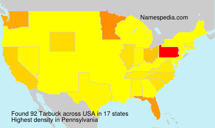 Surname Tarbuck in USA