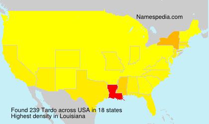 Familiennamen Tardo - USA