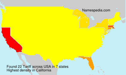 Surname Tariff in USA