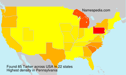 Surname Tarker in USA