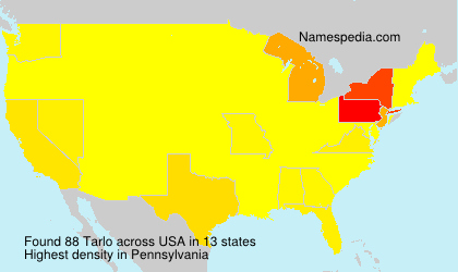 Surname Tarlo in USA