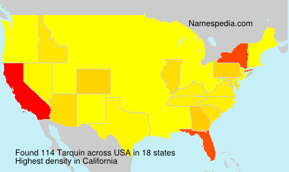 Surname Tarquin in USA