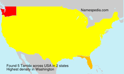 Surname Tarrida in USA