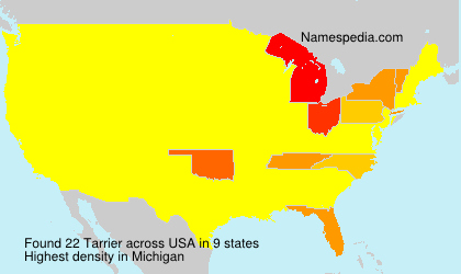 Surname Tarrier in USA
