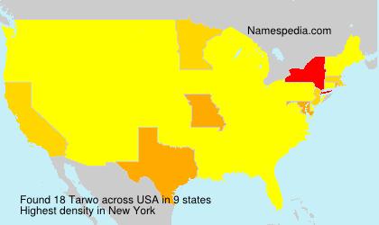 Surname Tarwo in USA
