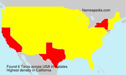 Familiennamen Tarza - USA