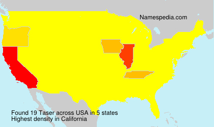 Surname Taser in USA