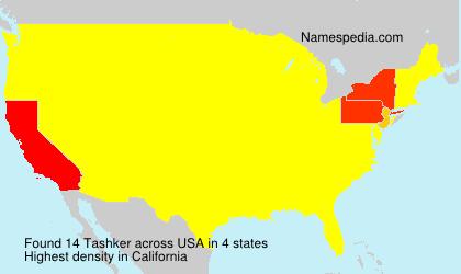 Familiennamen Tashker - USA