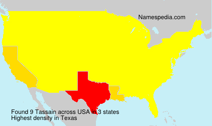 Surname Tassain in USA