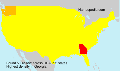 Surname Tassaw in USA