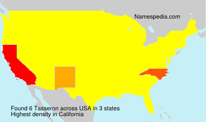 Surname Tasseron in USA