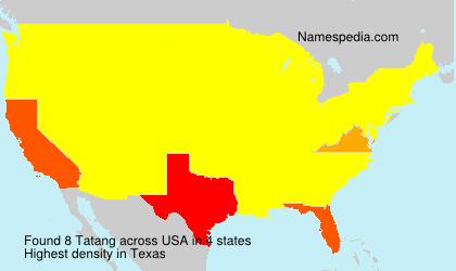 Surname Tatang in USA