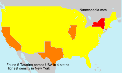 Surname Tatarina in USA