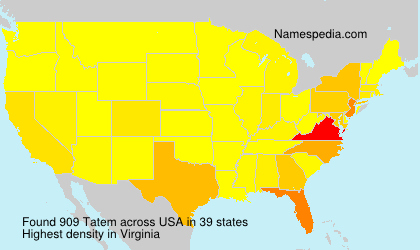 Surname Tatem in USA