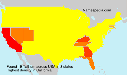 Surname Tathum in USA