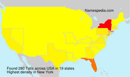 Surname Tatis in USA