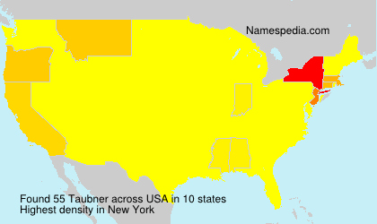 Surname Taubner in USA