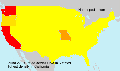 Surname Taufetee in USA