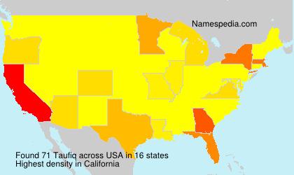 Surname Taufiq in USA