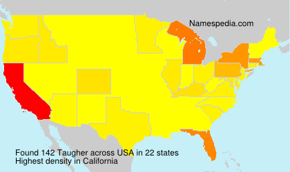 Surname Taugher in USA