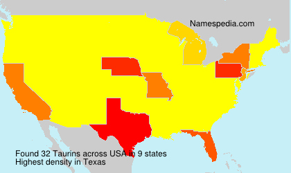 Surname Taurins in USA
