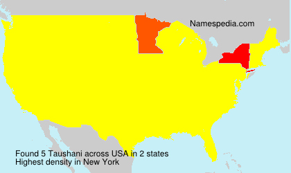 Surname Taushani in USA
