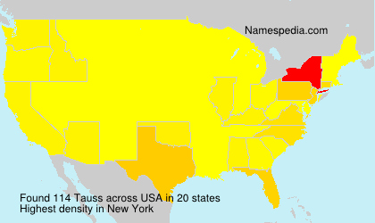Surname Tauss in USA