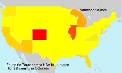 Surname Tautz in USA