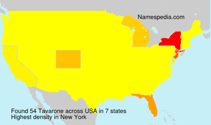 Surname Tavarone in USA