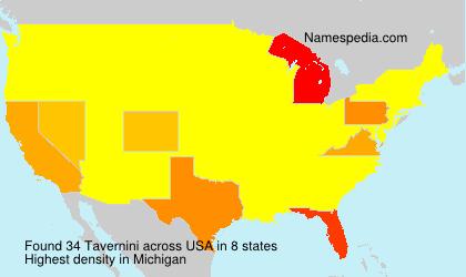 Surname Tavernini in USA