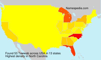 Surname Tawwab in USA