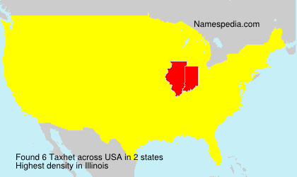 Surname Taxhet in USA