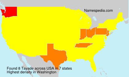 Familiennamen Tayade - USA