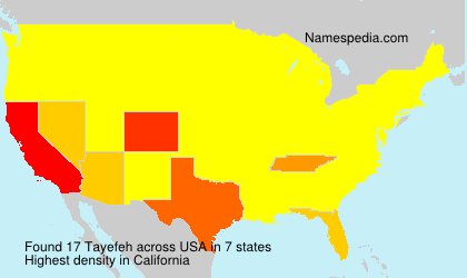 Surname Tayefeh in USA