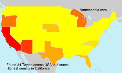 Surname Tayles in USA