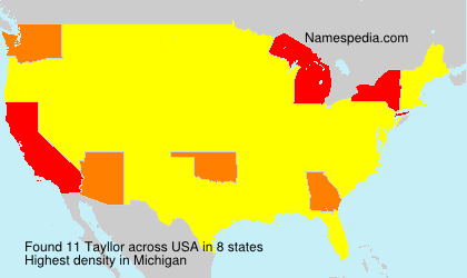 Surname Tayllor in USA