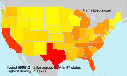Surname Taylor in USA