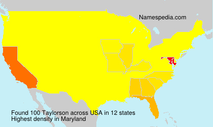 Surname Taylorson in USA
