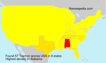 Surname Taymon in USA