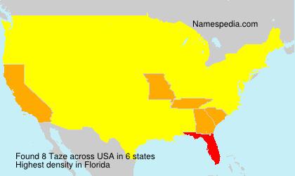 Surname Taze in USA