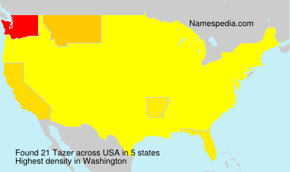 Surname Tazer in USA