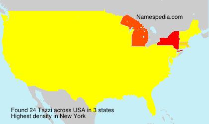 Surname Tazzi in USA