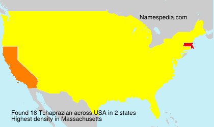 Surname Tchaprazian in USA