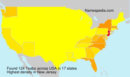 Familiennamen Teabo - USA