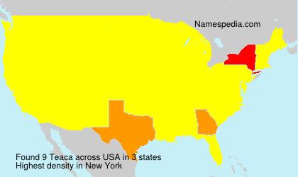 Familiennamen Teaca - USA