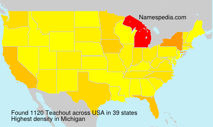 Familiennamen Teachout - USA