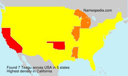Familiennamen Teagu - USA