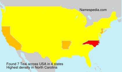Familiennamen Teai - USA
