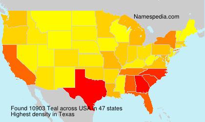 Familiennamen Teal - USA