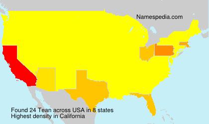 Familiennamen Tean - USA